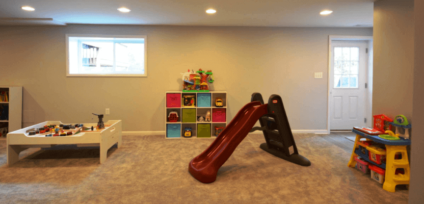 Basement Remodeling Kid's Playroom
