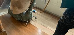 Hardwood floor sanding service